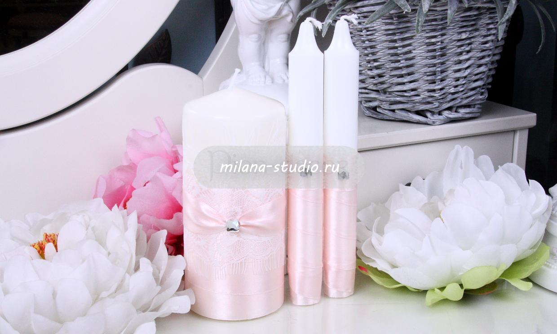 Комплект свечей «Smoky rose»