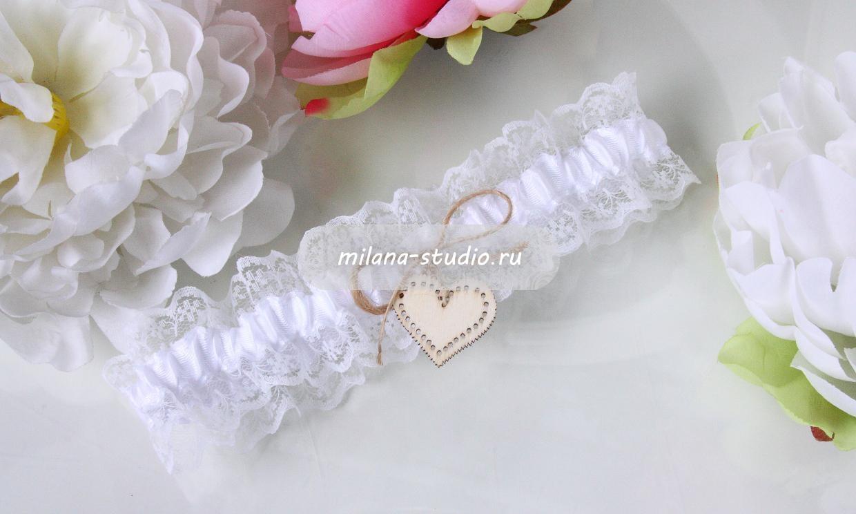 Подвязка для невесты «Natural»