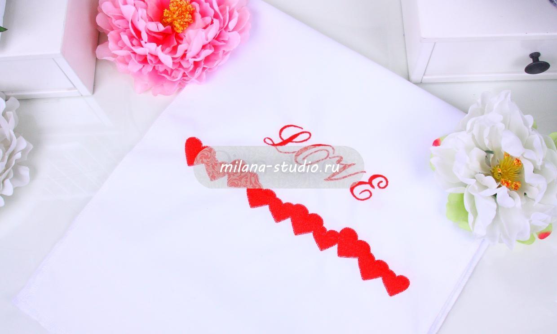 Красный рушник «Love»