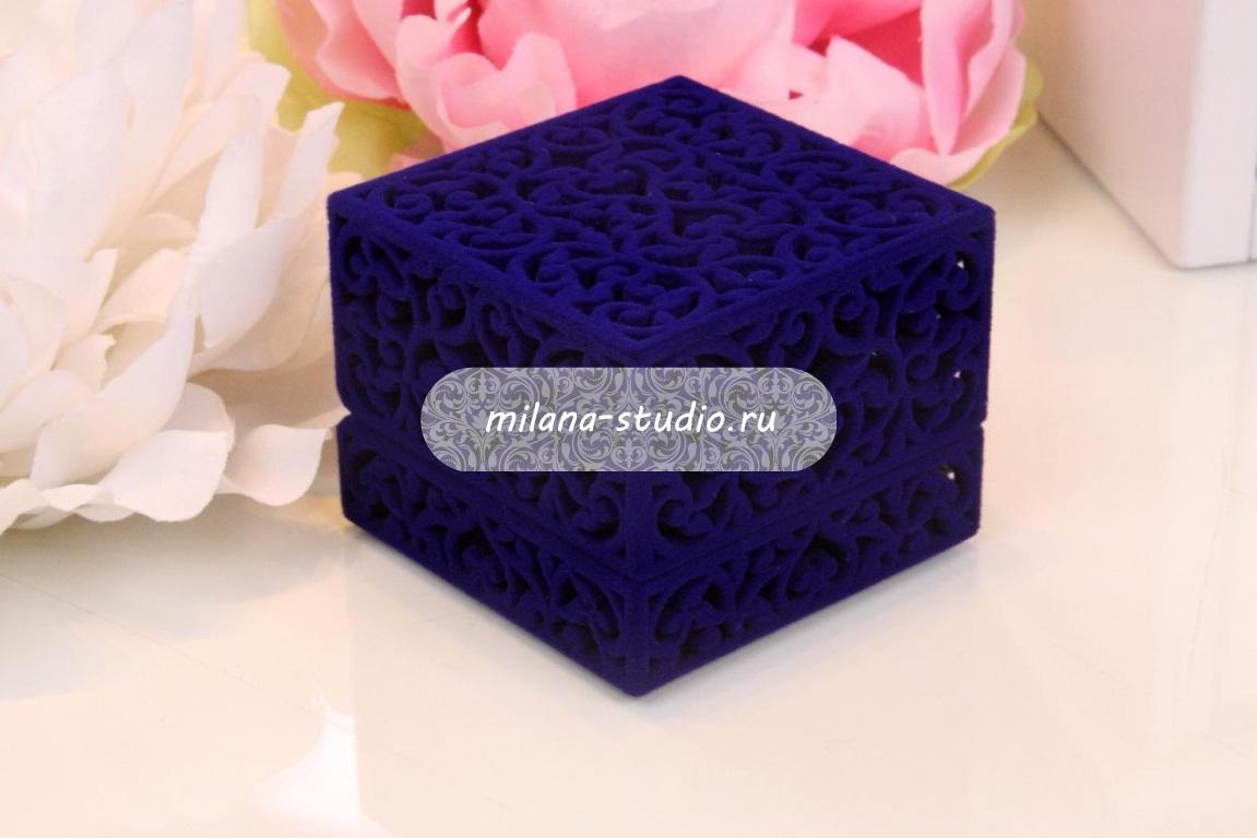 Коробочка для колец «Синий узор»