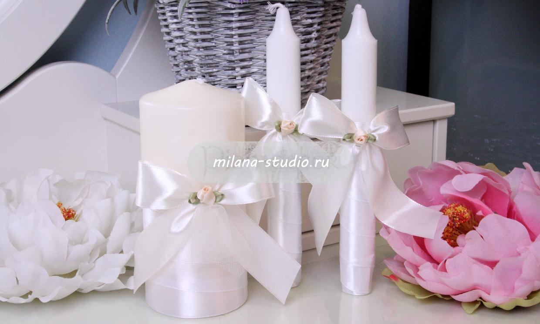 Комплект свечей «Крем какао»