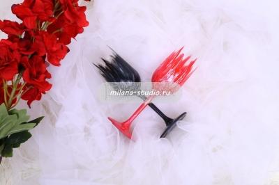Бокалы «Красные лебеди»
