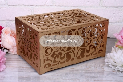 Коробка для конвертов «Узоры» - золото