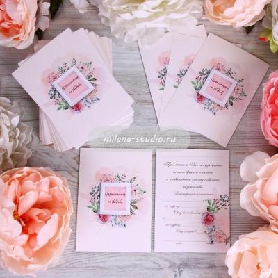Приглашение «Garden rose»