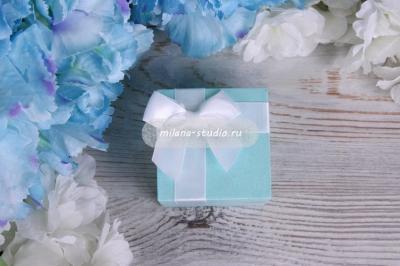"""Коробочка для колец """"Tiffany бант"""""""
