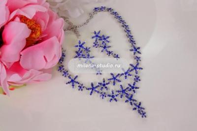Комплект «Цветочный» синий