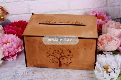 """Свадебная коробка для денег """"Милая парочка"""""""