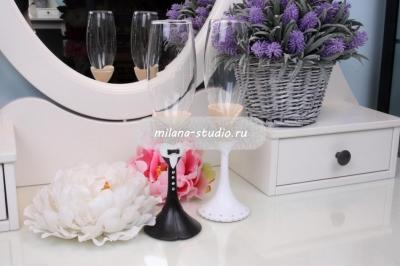 Мультяшные бокалы на свадьбу