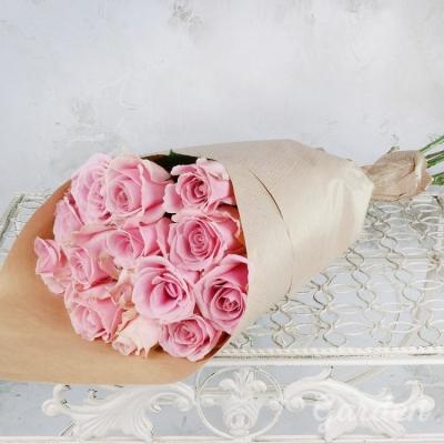 Букет из 15 шт светло-розовых роз