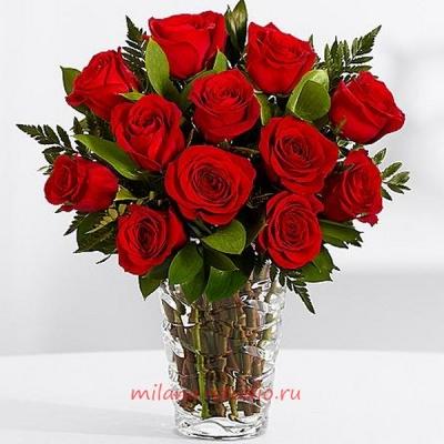 Букет из 15 шт красных роз