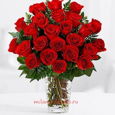 Букет из 25 шт красных роз