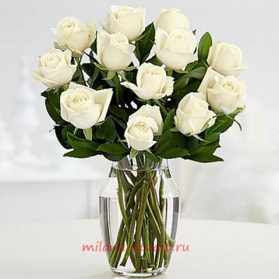 Букет из 15 шт роз аваланж
