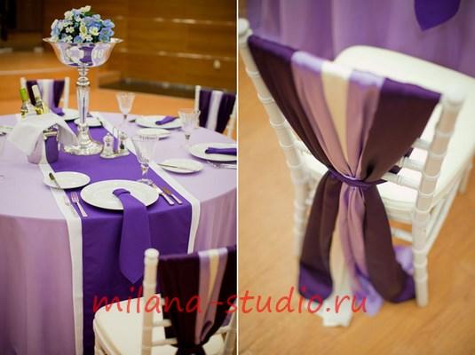 Столы и стулья на свадьбу