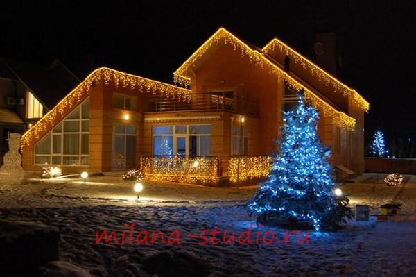 световое оформление частного дома